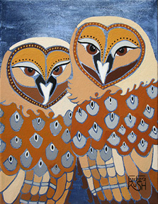 TOgether at Last Owl Painting