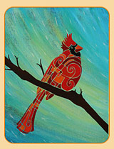 cardinals in art birds owl art