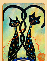 whimsical cat art