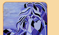 purple horse art contemporary horses