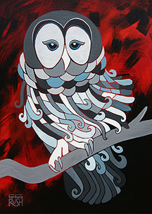 Contemporary Painting of Owl