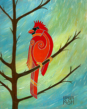 Red Cardinal Painting