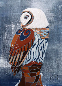 Snowy Owl Painting in Retrospect