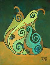 GeoCubist Pear Painting