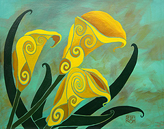 Charming Yellow Calla Lilies