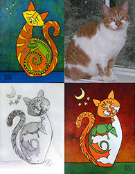 Commissioned Cat Paintings