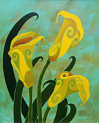 Yellow Calla Lily Painting