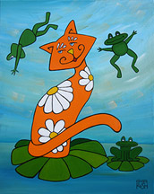 Marmelade Cat Painting